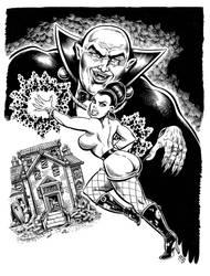 Bad Karma Book 1 cover inks by dalgoda7