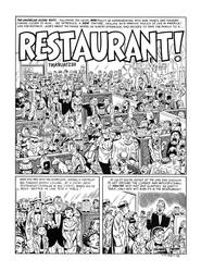 Restaurant! Page 1 recreation, MAD #16 by dalgoda7