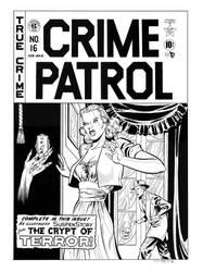 Crime Patrol #16 Cover Recreation by dalgoda7