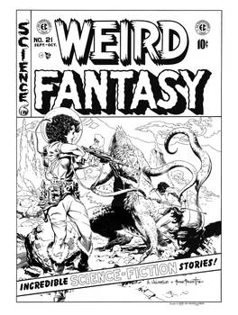 Weird Fantasy #21 Cover Recreation by dalgoda7