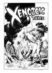 Xenozoic Tales #9 Cover Recreation by dalgoda7