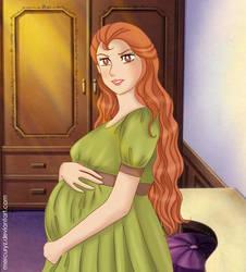 pregnant Eliza by mercuryZ