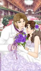 Maya and Masumi wedding by mercuryZ