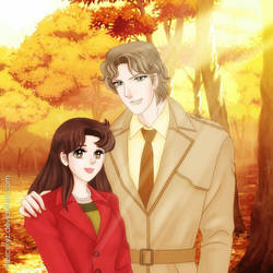 Autumn love story by mercuryZ