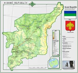Map of Komi Republic by TudoySudoy