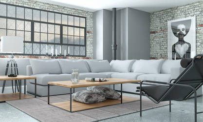 industrial loft by 3DEricDesign