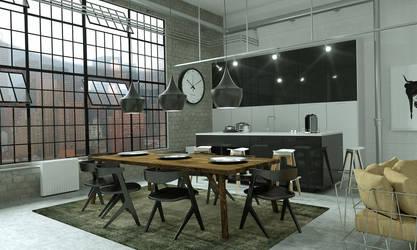 kitchen new york by 3DEricDesign