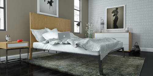 modern bedroom by 3DEricDesign