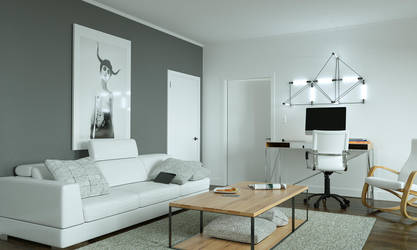 Living room by 3DEricDesign
