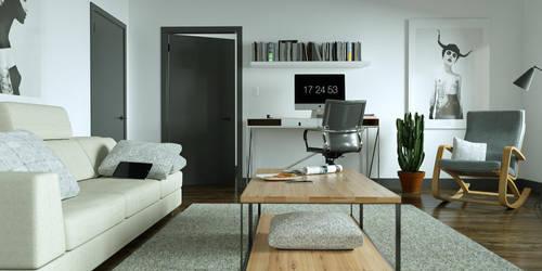 living room V2 by 3DEricDesign