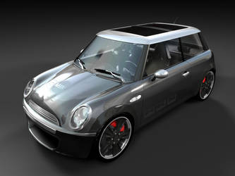 minicooper dark grey by 3DEricDesign