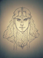 Silmarillion - Mairon portrait by IngvildSchageArt