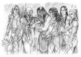 Silmarillion - The Death of Feanor by IngvildSchageArt