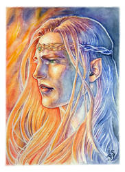Maedhros - The Fires of his Heart by IngvildSchageArt