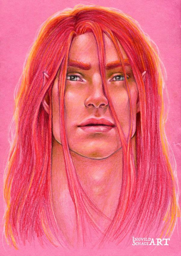 Maedhros - Shades of Red by IngvildSchageArt
