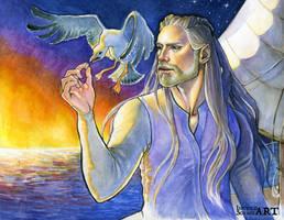 Cirdan :: Sunrise Sailing by IngvildSchageArt