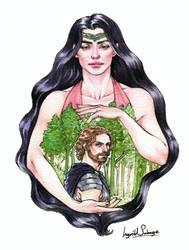 Silmarillion - Beren and Luthien by IngvildSchageArt