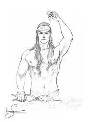 Feanor forging the silmarils :: sketch by IngvildSchageArt
