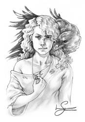 Odinsbarn :: Hirka and Kuro by IngvildSchageArt