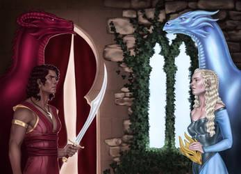 Dragons - An Emma Hamm commission by IngvildSchageArt
