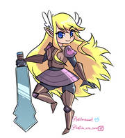 Armored zelda by Kawaii-Chan203