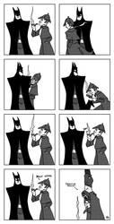 Batman vs Sherlock Holmes by outlawink