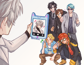 RFA GROUP SELFIE by TaffyDesu