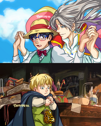 Viktor's Moving Castle by TaffyDesu
