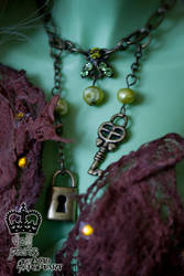 Lock and Key DOLL necklace by Acid-PopTart