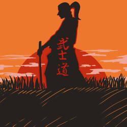 Bushido and Sunset by Ludensio