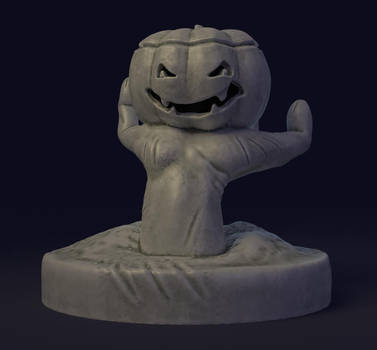 halloween sculpture (with materials) by naghree