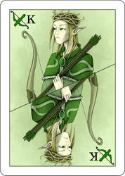 fantasy playing card figure (elf king) by naghree