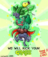 We'll Kick Your GRASS by cartoonist