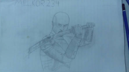 Shadow Warrior first draw by melkor234