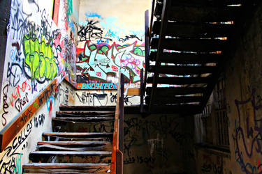 Chaotic stairs by AirahJoyce