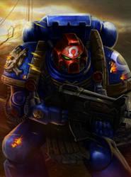 Ultramarine sergeant by Aldin