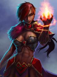Fire Magic Knight by Aldin