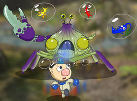 Pikmin 3 - Fight Against the Peckish Aristocrab! by ymmot392