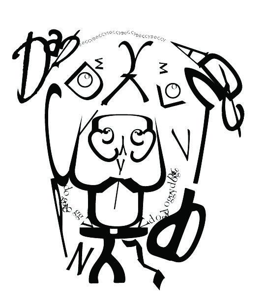 Text Dog Portrait by allaboutorlando