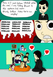 SHERLOCK Moriartys obsession by AstralGuardian