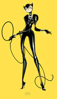 CATWOMAN YELLOW by PerryMaple