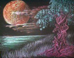 Moon n Tree by RoseFaerie