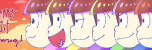 HAPPY ANNIVERSARY OSOMATSU!! by Mochiyy