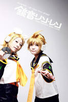 Vocaloid twins Rin and Len by bai917