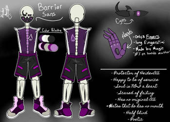 Barrier Sans - Reference Sheet (More Info in Desc) by Corpsetalia-fan