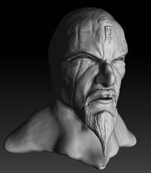 Cultist head sculpt by theoddmike