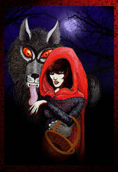 C2 +Little Red and her Wolf+ by all-things-dark
