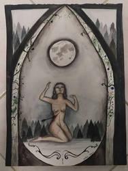 Werewolf under the moon by juliaanderson1269