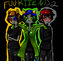 Sollux, Nepeta, and Karkat by Evieebunl25