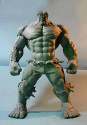 Incredible Hulk Maquette by GabrielxMarquez